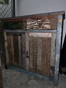 Selling a Set of Two Marching Cabinets Rustic Wood