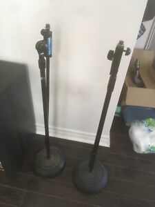 2 Apex Microphone Stands With Boom Arm