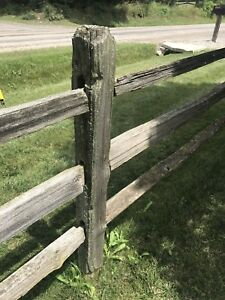 Split rail fence. Driftwood fence.