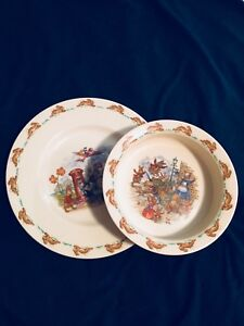 Bunny Kins Plate and Bowl Set
