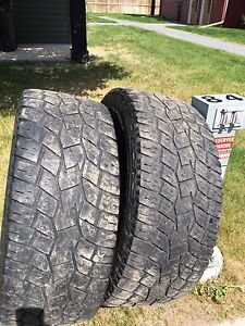 2 x Toyo A/T Open Country LT285/55R20 tires