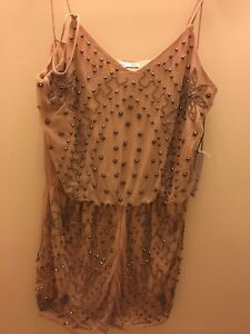 New with tags, never worn, Pink, beaded romper