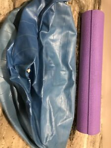 Exercise ball and yoga mat