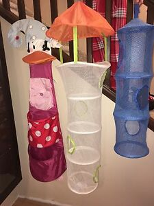Kids toy storage hangers (Ikea)