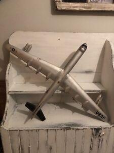 Art populaire folk art avion bois Wood plane b36 bomber us navy