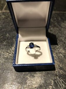 Diamond and sapphire ladies ring