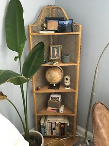 Peacock chair and matching shelf