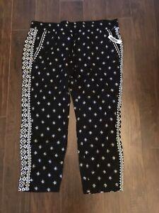 Black and White Boho Pants