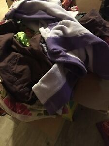 Box of 4T girl clothes
