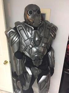 Futuristic robotic body Armor costume helmet  strong halo xbox