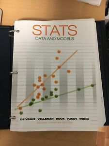 Stats data and models textbook and student solutions manual