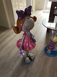 Happy house bobble head full size statue /little girl glass table Woodcroft Morphett Vale Area Preview