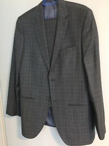 Mens 100% Wool Suits 40T/34