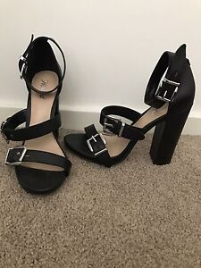 BLACK HEELS WITH BUCKLES Lambton Newcastle Area Preview