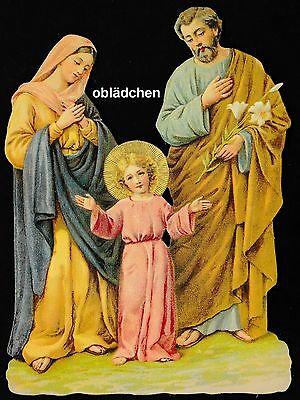 # GLANZBILDER # EF 5162 BILD-Karte, Heilige Familie, holy family, Nostalgie pur