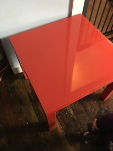 Red coffee table