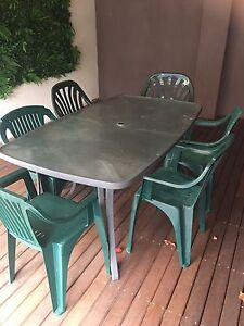 Outdoor table and 6 chairs in good/fair cond Prospect Prospect Area Preview