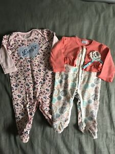 Girls dressed up sleepers 3-6 months