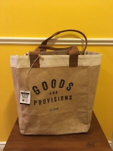 NWT Market Tote Bag Goods & Provisons Jute shopping