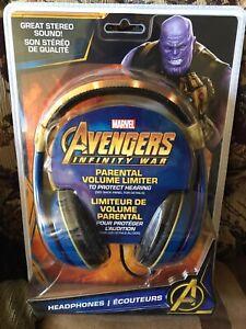 2 new in package kids headphones including spiderman