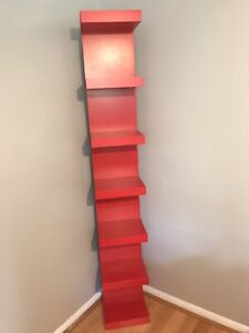 IKEA, LACK wall shelf unit, red