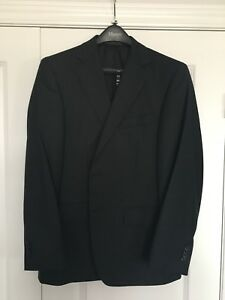 Charcoal grey men's suit blazer