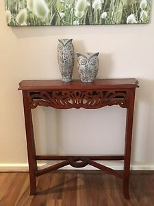 Ornate Jarrah Hall/Side Table Sorrento Joondalup Area Preview