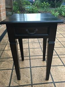 Balinese Style Solid Wood Side Table Medowie Port Stephens Area Preview