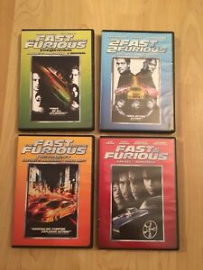 Fast and Furious DVDs
