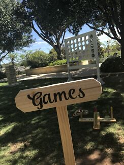 Lawn games lolly buffet drink station