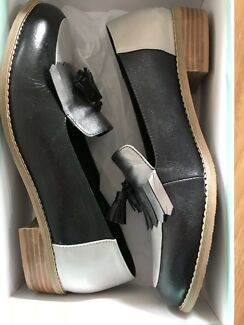 8cc9d23e6fa BRAND NEW WINSTON WOLFE Sz 40 100% Leather Loafer Slide Mock Croc ...