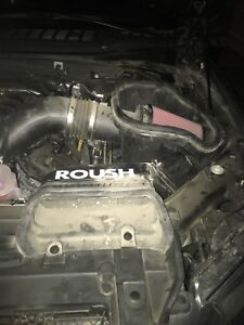 Roush exhaust and cold air intake