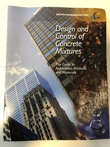 Design and control of concrete mixtures- 8th edition
