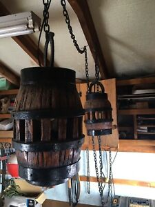 Vintage barrel lights