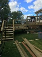 Landscaping and fence ,deck and general repairs.