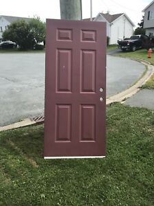 Outside steel door