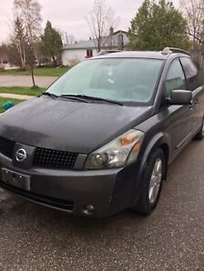 2005 Nissan Quest fully loaded.