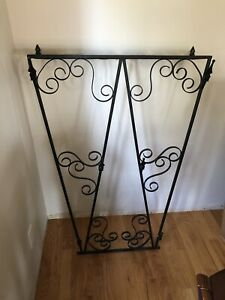 Cast iron glass self and coat hanger