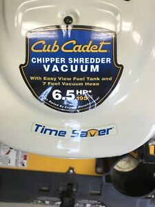 Cub Cadet Chipper, Shredder and Vacuum