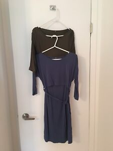 Lot de 4 robes de maternité et allaitement