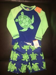 New with tags Gymboree sun shirt and swim trunks size 2T