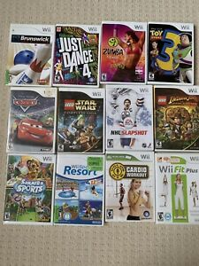 Wii package with fit board and 20+ games