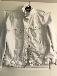 Ladies white jean jacket 2xl