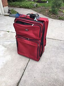 Free - Red luggage