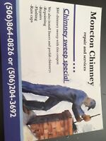 Chimney sweeping. $80 with the coupon $100 without 506-864-0826