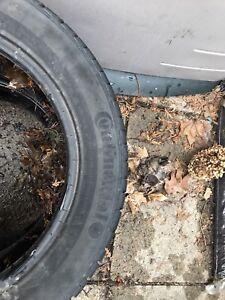 2 pneu d'hiver continental 16 po