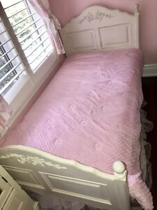 Girls twin bed Pottery Barn like