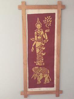 framed asian paintings