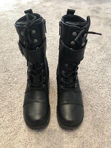 10273b7d3db HARLEY-DAVIDSON WOMENS JAMIE LEATHER BOOTS - BLACK
