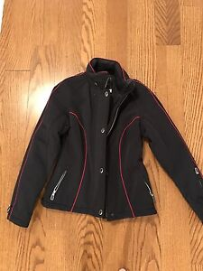 Warm but dressy fitted jacket, excellent quality